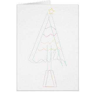 クリスマスツリーのスケッチ カード
