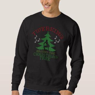 クリスマスツリーのセーターのまわりのTwerkin スウェットシャツ