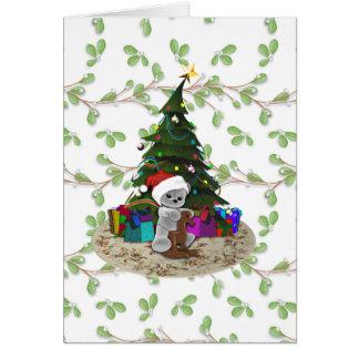 クリスマスツリーのテディ カード