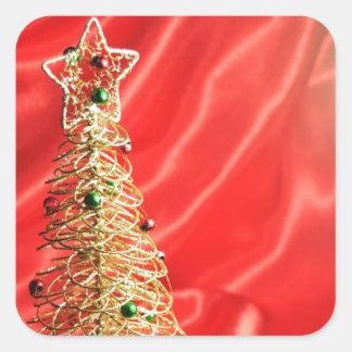 クリスマスツリーのデザイン スクエアシール