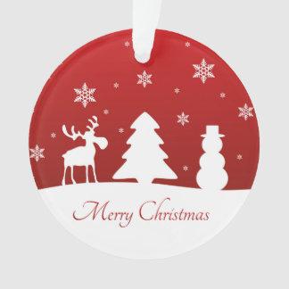 クリスマスツリーのトナカイの雪だるま-オーナメント オーナメント