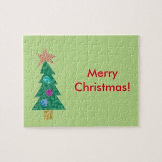 クリスマスツリーのパズル ジグソーパズル