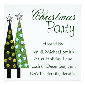 クリスマスツリーのパーティの招待状 カード
