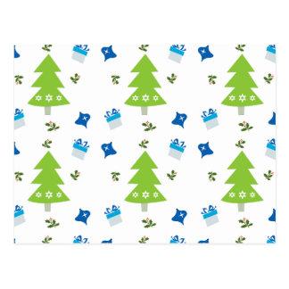 クリスマスツリーのプレゼントおよびクリスマスの装飾 ポストカード