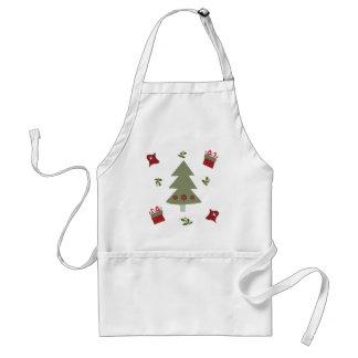 クリスマスツリーのプレゼントおよびヒイラギ スタンダードエプロン