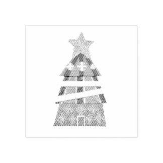 クリスマスツリーのホテルのスタンプ ラバースタンプ