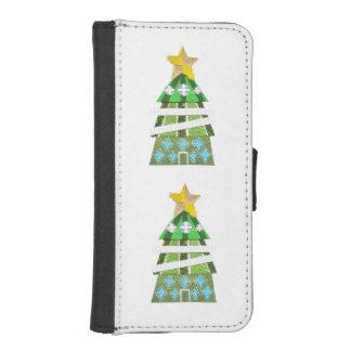 クリスマスツリーのホテルの私電話5/5sウォレットケース iPhoneSE/5/5sウォレットケース
