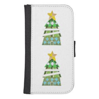 クリスマスツリーのホテルのSamsungの銀河系S4のウォレットケース ウォレットケース