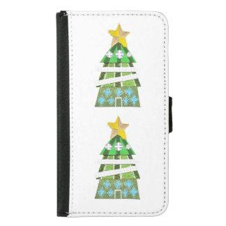 クリスマスツリーのホテルのSamsungの銀河系S5のウォレットケース Galaxy S5 ウォレットケース