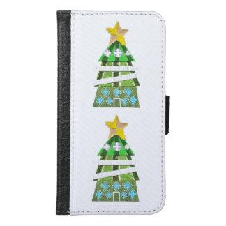 クリスマスツリーのホテルのSamsungの銀河系S6のウォレットケース Galaxy S6 ウォレットケース