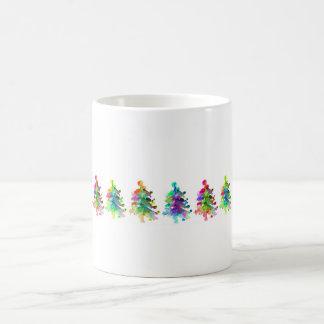クリスマスツリーのボーダーマグ コーヒーマグカップ
