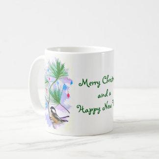 クリスマスツリーのマグの《鳥》アメリカゴガラの鳥 コーヒーマグカップ