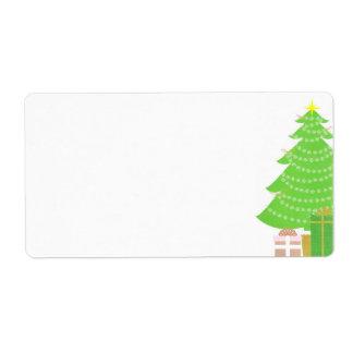 クリスマスツリーのラベル ラベル