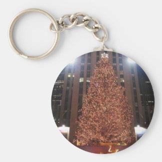 クリスマスツリーのロックフェラーの中心 キーホルダー