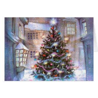 クリスマスツリーのヴィンテージ カード