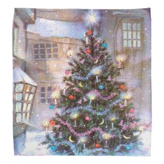 クリスマスツリーのヴィンテージ バンダナ