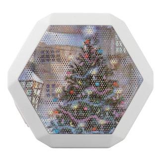 クリスマスツリーのヴィンテージ ホワイトBluetoothスピーカー