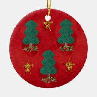 クリスマスツリーの三位一体 セラミックオーナメント