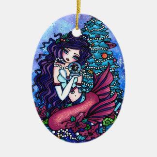 クリスマスツリーの人魚はハナリンによって芸術を示します セラミックオーナメント