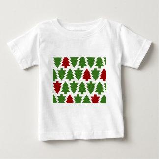クリスマスツリーの休日パターン ベビーTシャツ