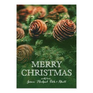 クリスマスツリーの円錐形 カード