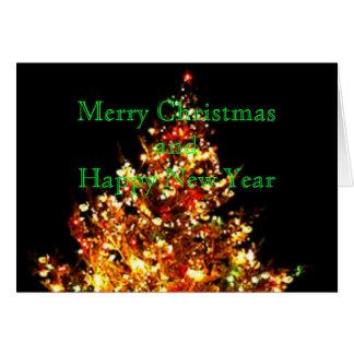 クリスマスツリーの写真のギフトカードパート1 グリーティングカード