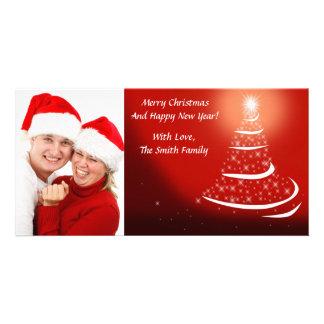 クリスマスツリーの写真の挨拶状 カード