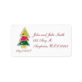 クリスマスツリーの切り出しの宛名ラベル ラベル