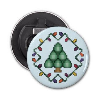 クリスマスツリーの十字のステッチのキルトの正方形 栓抜き