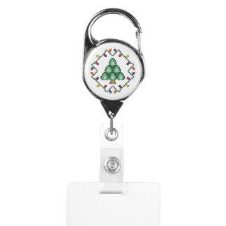 クリスマスツリーの十字のステッチのキルトの正方形 IDカードホルダー