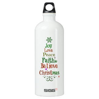 クリスマスツリーの単語 ウォーターボトル