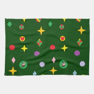 クリスマスツリーの台所タオル キッチンタオル