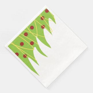 クリスマスツリーの夕食ナプキン