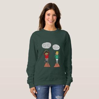 クリスマスツリーの姿勢|のおもしろいなヨガのクリスマスのジャンパー スウェットシャツ
