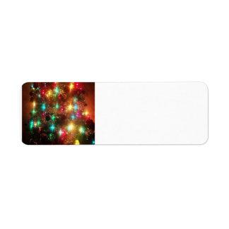 クリスマスツリーの宛名ラベル ラベル