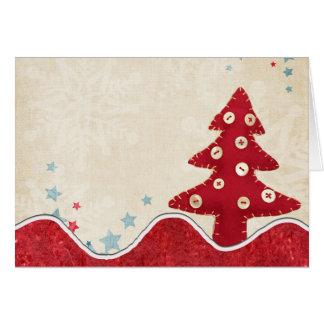 クリスマスツリーの挨拶状 グリーティングカード