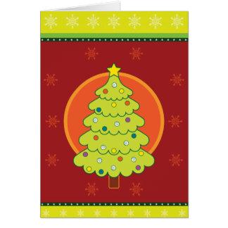クリスマスツリーの挨拶 カード