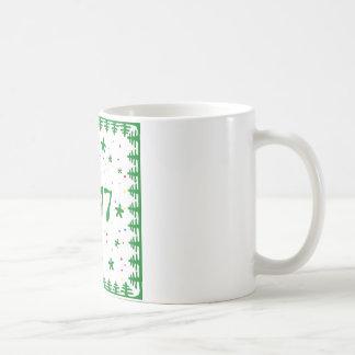 クリスマスツリーの新年のマグ コーヒーマグカップ