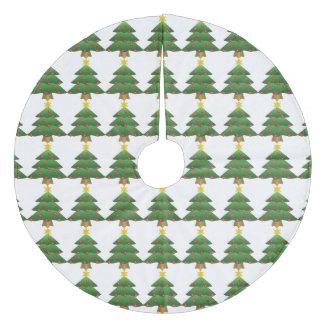 クリスマスツリーの木のスカート フリース ツリースカート