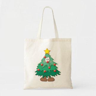 クリスマスツリーの買い物袋 トートバッグ