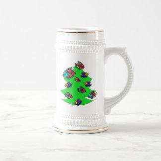 クリスマスツリーの魚 ビールジョッキ