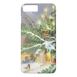 クリスマスツリーの鳴き鳥の常緑樹教会 iPhone 8 PLUS/7 PLUSケース