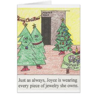 クリスマスツリーのJewleryの挨拶状 カード