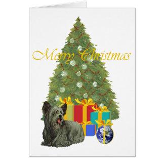 クリスマスツリーのSkyeテリア カード