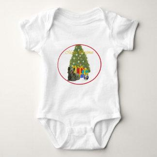 クリスマスツリーのSkyeテリア ベビーボディスーツ