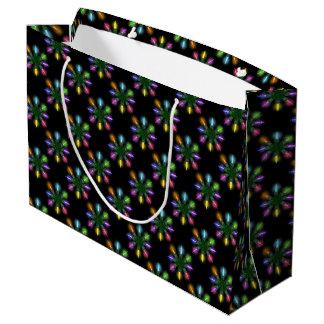 クリスマスツリーはパターンをつけます ラージペーパーバッグ
