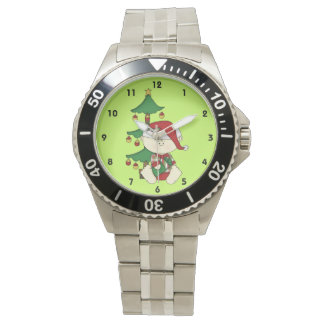 クリスマスツリーを持つかわいいクリスマスのベビー 腕時計