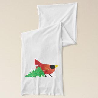 クリスマスツリーを運んでいるふくよかで赤い(鳥)ショウジョウコウカンチョウ スカーフ