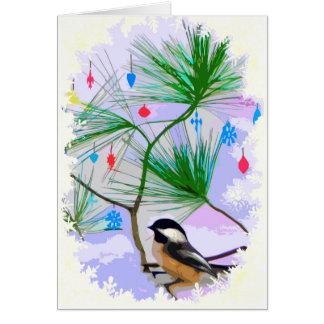 クリスマスツリーカードの《鳥》アメリカゴガラの鳥 カード
