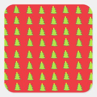 クリスマスツリーパターン スクエアシール